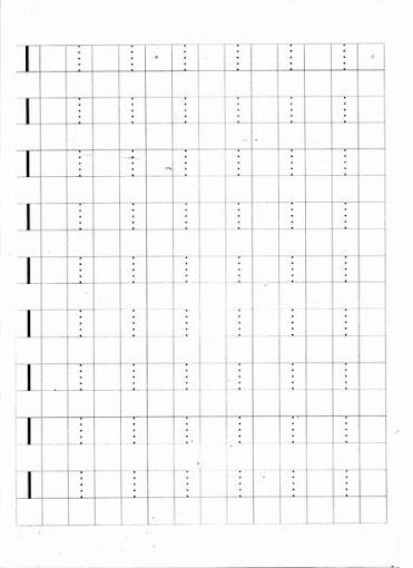 Caligrafia - Letras pontilhadas: Letra Ipara imprimir